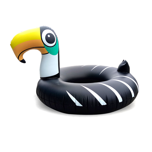 Black Flamingo Pool Float Ring
