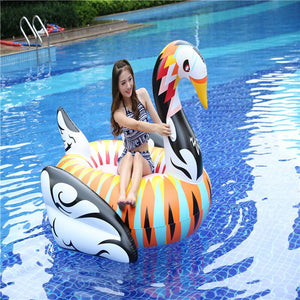 Giant Bohemian Swan Pool Float for Kids and Adults