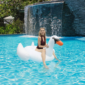 Giant Swan Pool Float for Kids and Adults