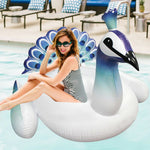 Giant Blue Peacock Pool Float for Kids and Adults