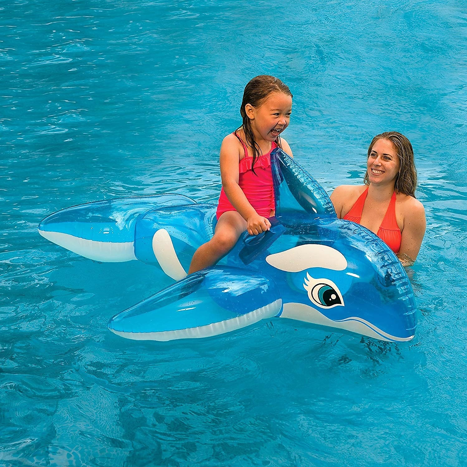 The Blue Dolphin Pool Float for kids