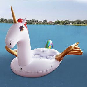 Gigantic Inflatable 6-Adult Party Golden Unicorn Float