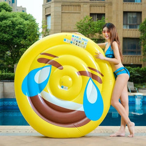 Giant Emoji Pool Float for Kids and Adults
