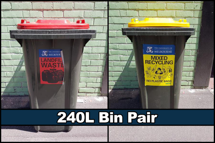 240L Bin Pair - General Waste & Recycling
