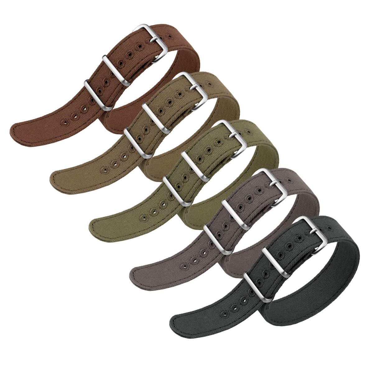 Single Pass Vintage Canvas NATO Watch Strap