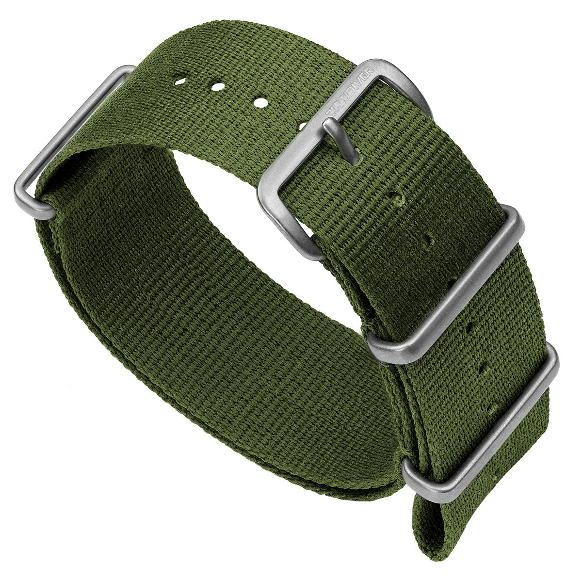Classic ZULUDIVER Military Colour NATO Watch Strap, Satin Hardware