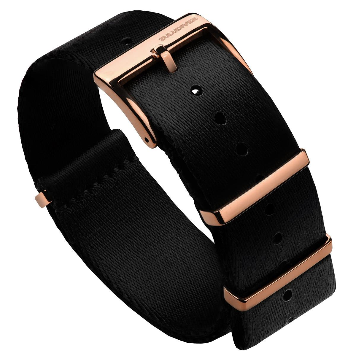 LIMITED EDITION Premium ZULUDIVER NATO Watch Strap, Rose Gold Hardware