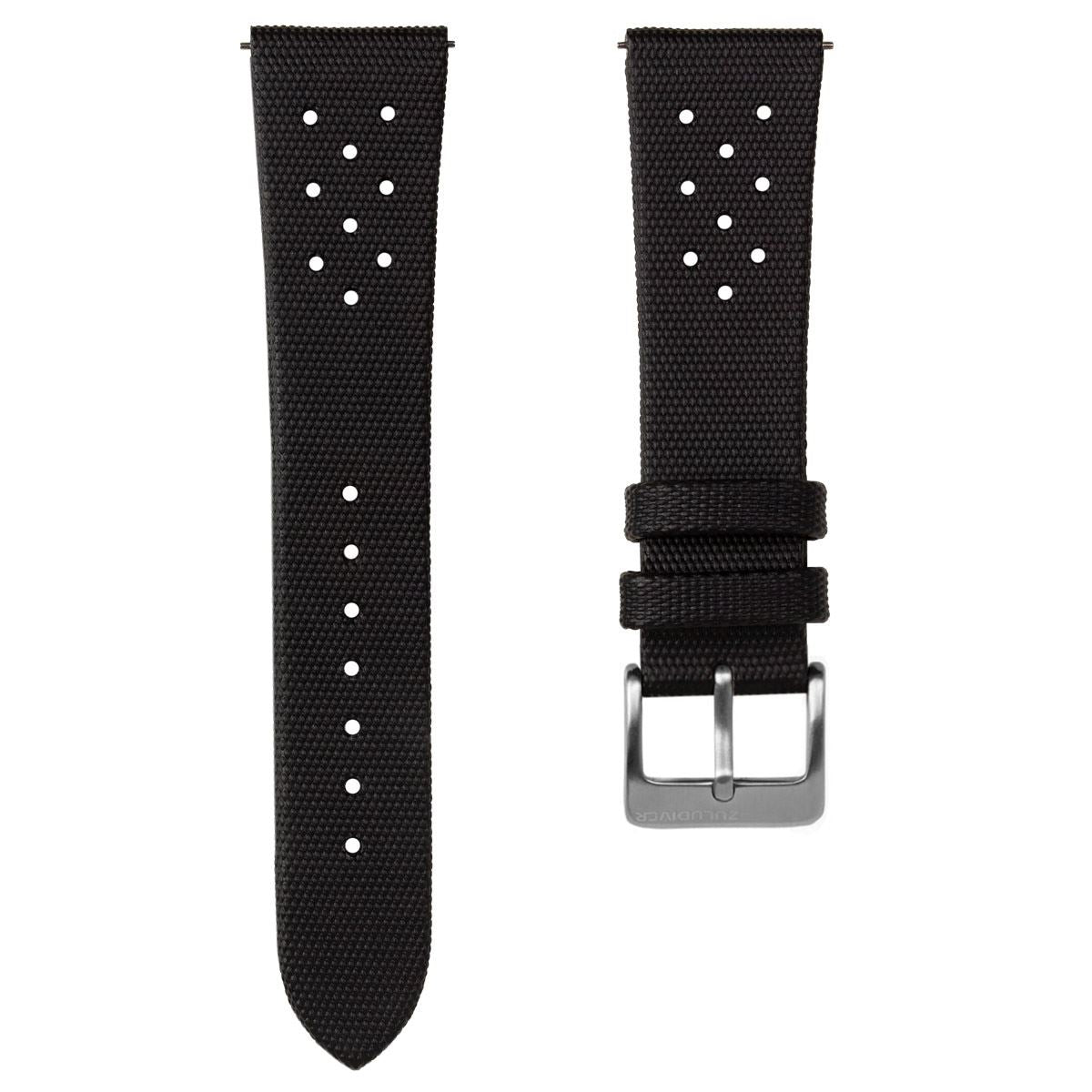 Vintage Style ZULUDIVER QR Sailcloth Perforated Watch Strap