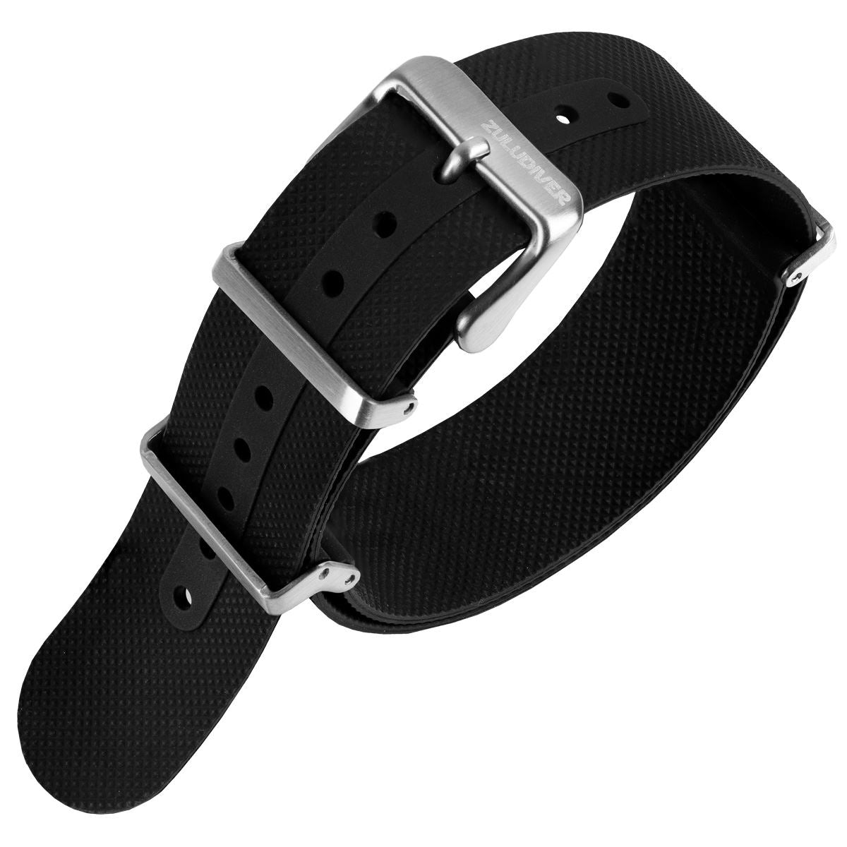 ZULUDIVER Seaton FKM Rubber NATO Watch Strap