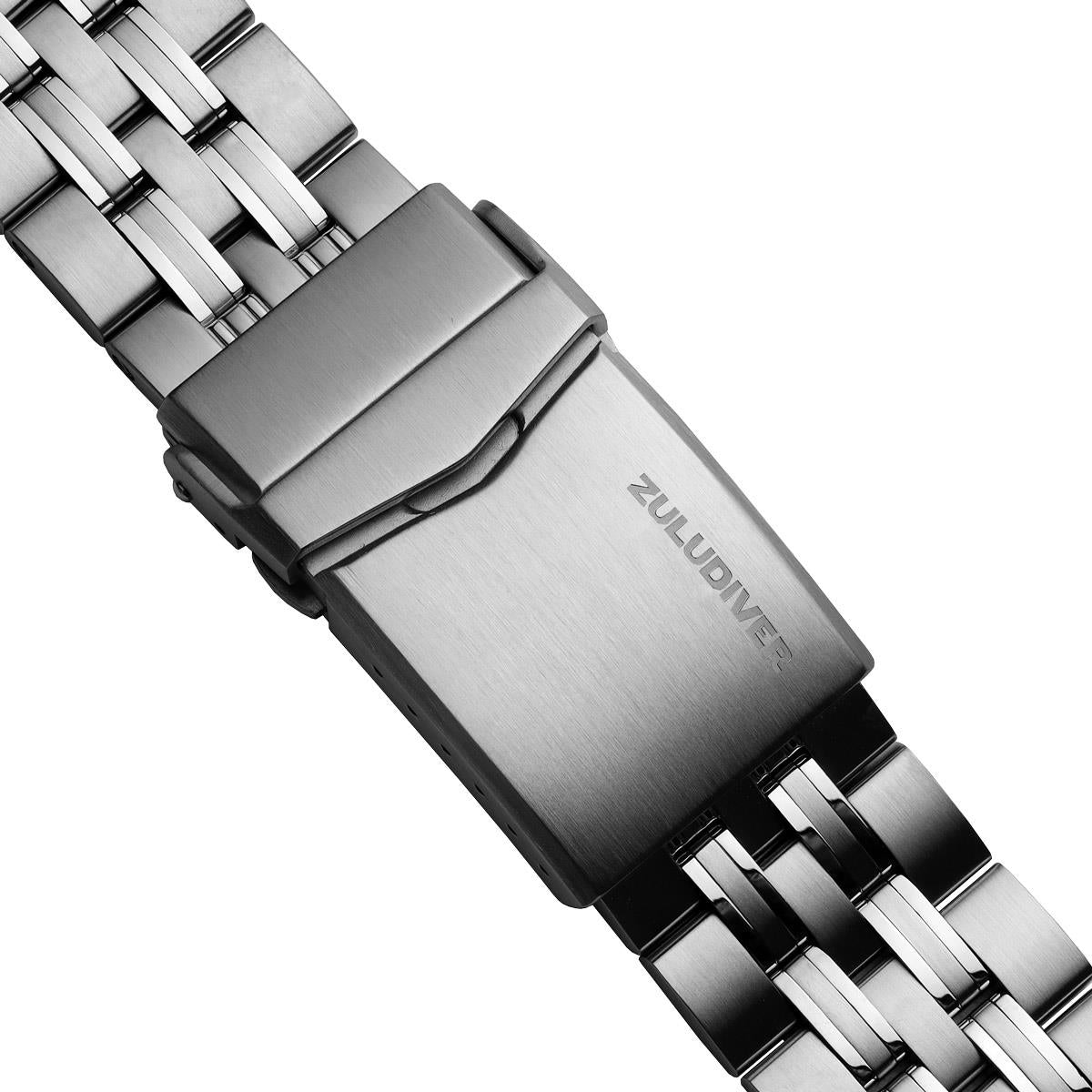 ZULUDIVER Seabrook Solid Stainless Steel Diver's Watch Strap