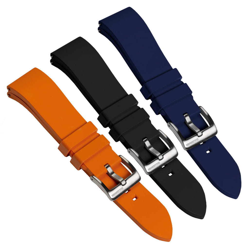The Zennor by Zuludiver, FKM Rubber Waterproof Watch Strap