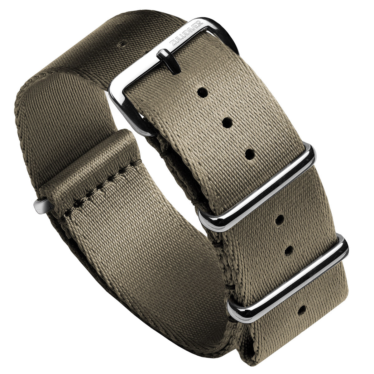Professional ZULUDIVER Military Herringbone NATO Watch Strap, Polished Hardware