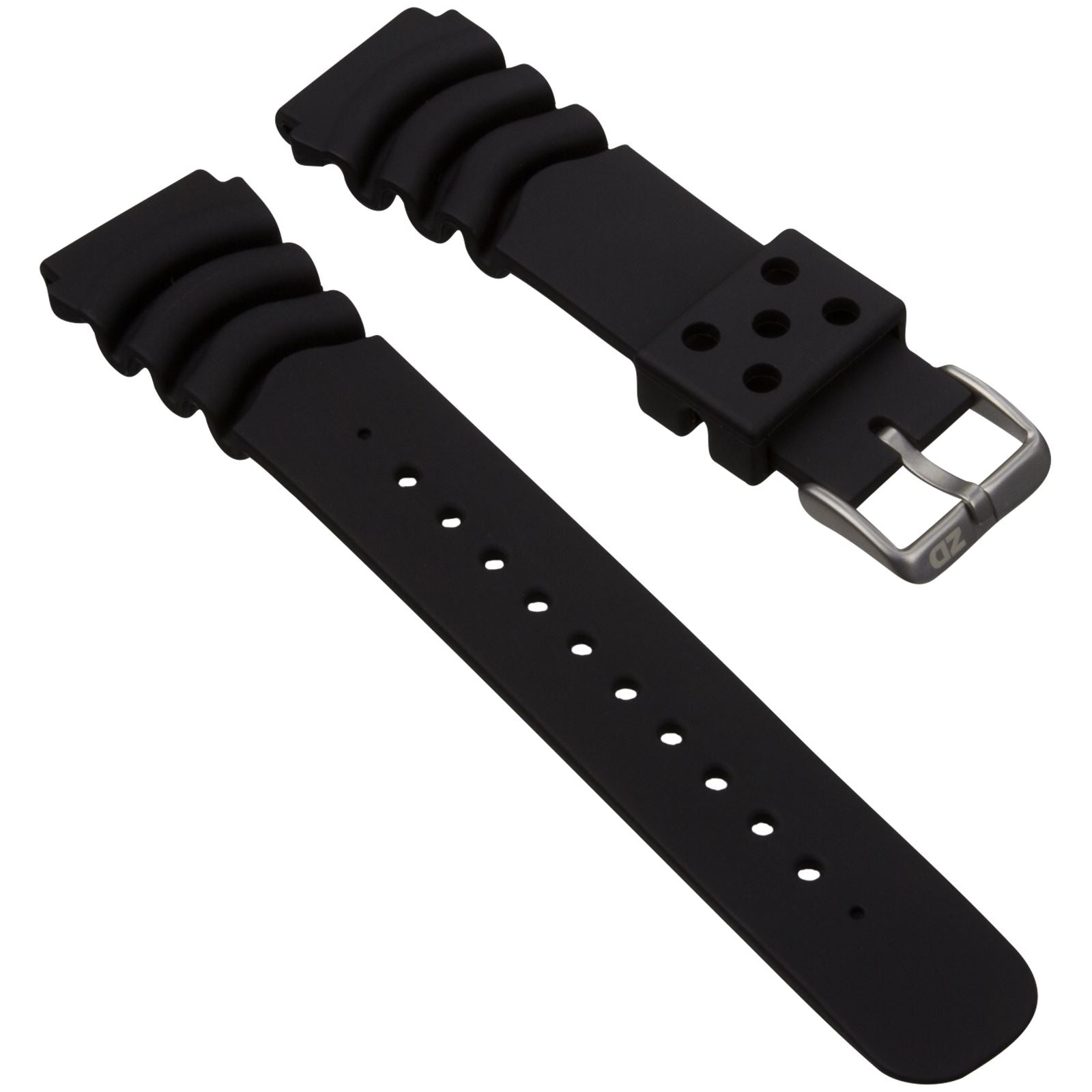 ZULUDIVER PU Z Type Waterproof Watch Strap