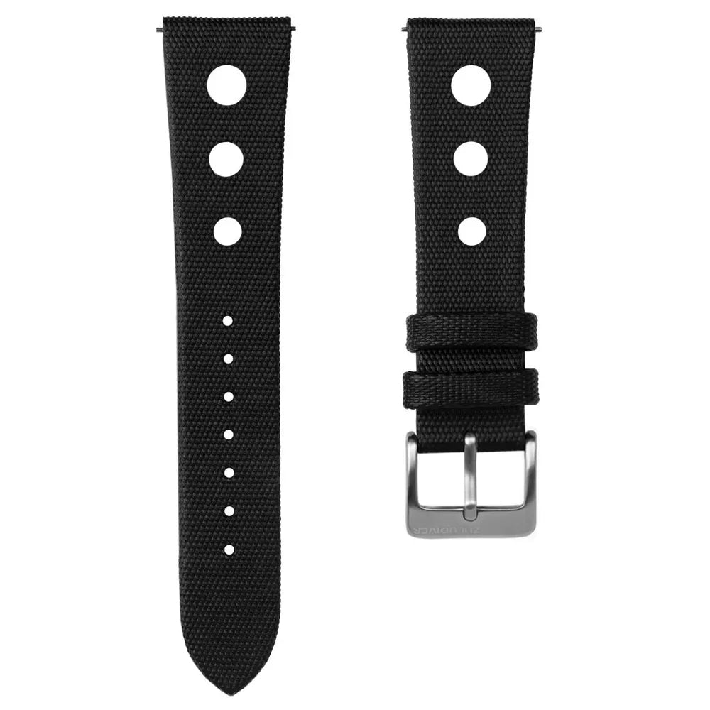 ZULUDIVER Quick Release Sailcloth Rally Watch Strap