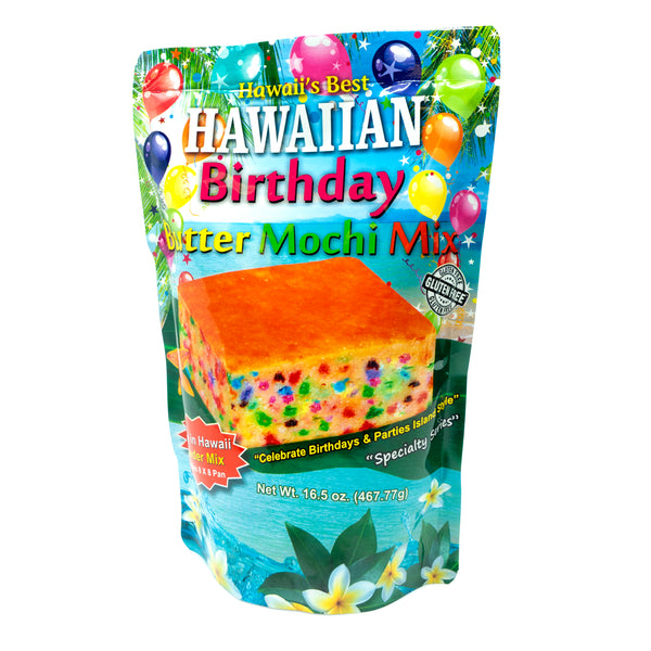 (NEW) Hawaii's Best Birthday Butter Mochi Mix 15 oz - Wholesale Unlimited Inc.