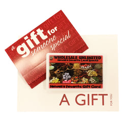 Store Gift Card - Wholesale Unlimited Inc.