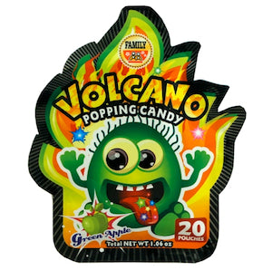 Volcano Popping Candy - Green Apple - Wholesale Unlimited Inc.