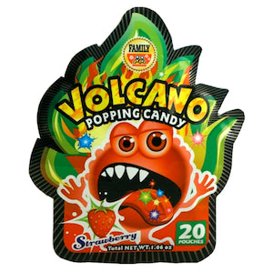 Volcano Popping Candy - Strawberry - Wholesale Unlimited Inc.