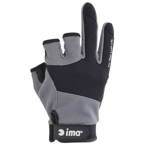 ams design ima original mesh glove three-finger-less Black × Charcoal M