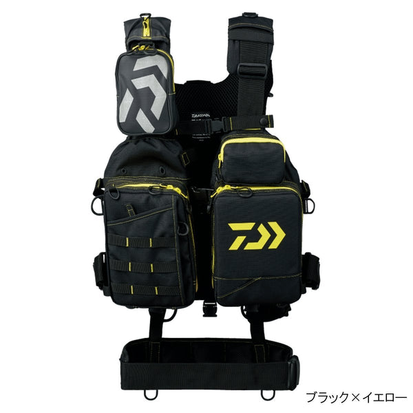 Daiwa Bench Cool Game Best III DF-6107 Fishing Vest (Black × yellow)