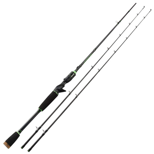 KastKing Bate rod Spartacus 2 piece Twin tip rod carbon 1.98 M & MH /Chatriuse green
