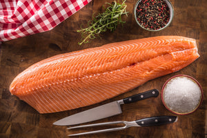 Whole Alaskan Sockeye Salmon Fillets- Wild Caught (~1.25#)