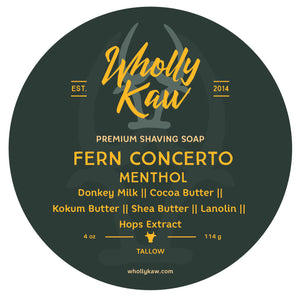 Fern Concerto - Mentholated Shaving Soap