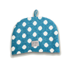 Knitted Bunny Rabbit Tea Cosy - Azure Blue & White