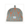 Knitted Tea Cosy Scottish Highland Stag Head  - Grey & Rust