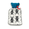 Knitted Hot Water Bottle Cover Beetle - Black & White