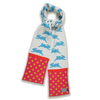 Knitted Rabbit Scarf - Scottish Lambswool Extra Long - Bright Colours