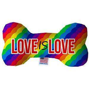 Love is Love Stuffing Free Bone Dog Toy - Petponia