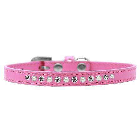 Pearl and Clear Crystal Puppy Collar - Petponia
