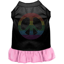 Load image into Gallery viewer, Rhinestone Rainbow Peace Dress - Petponia