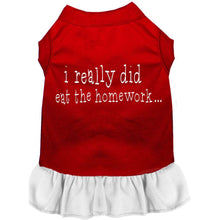 Load image into Gallery viewer, I really did eat the Homework Screen Print Dress - Petponia