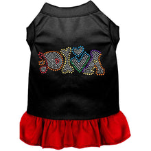 Load image into Gallery viewer, Technicolor Diva Rhinestone Pet Dress - Petponia