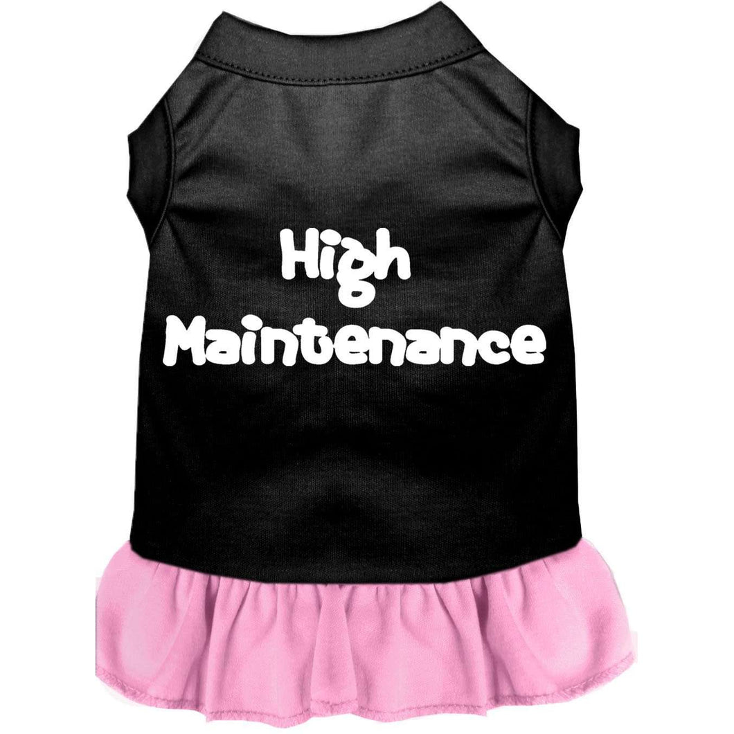 High Maintenance Screen Print Dress - Petponia