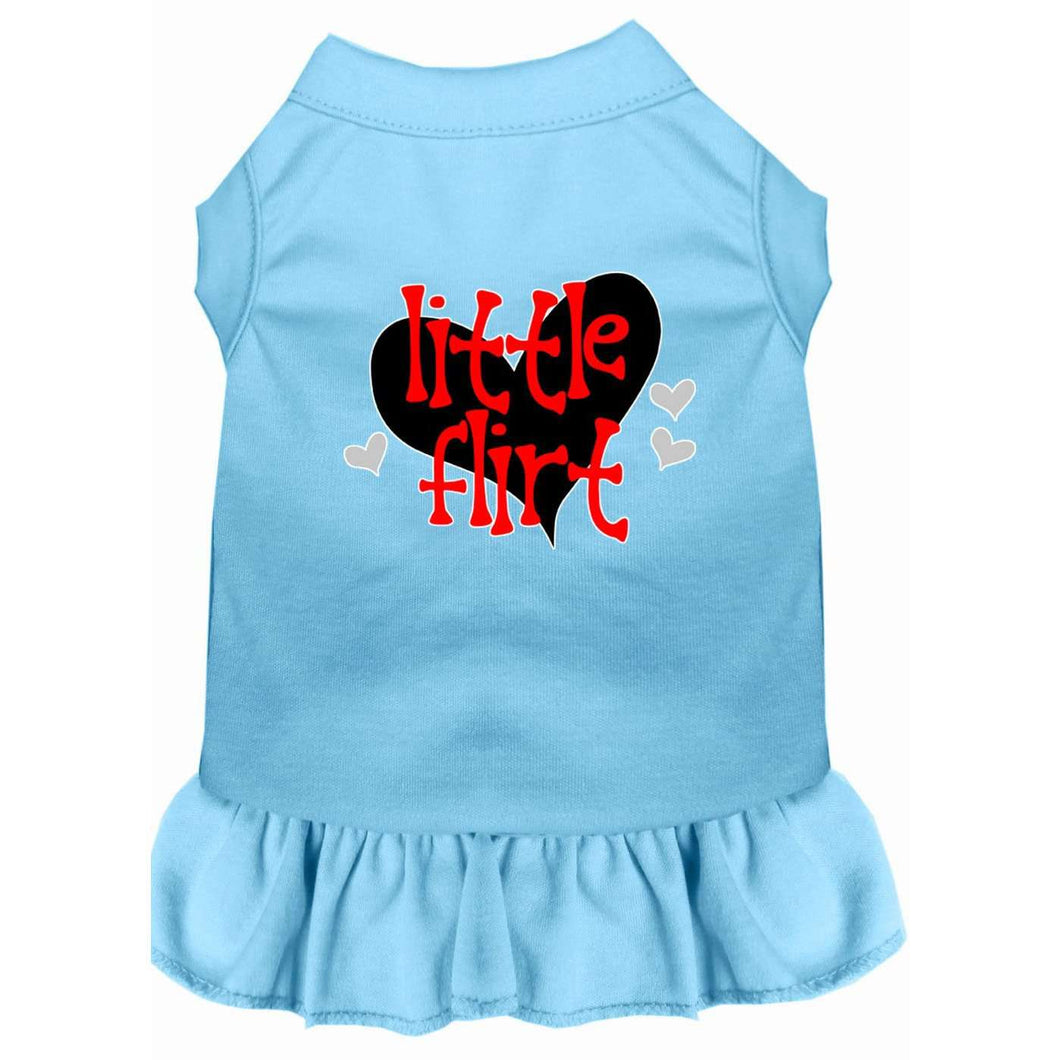 Little Flirt Screen Print Dog Dress - Petponia