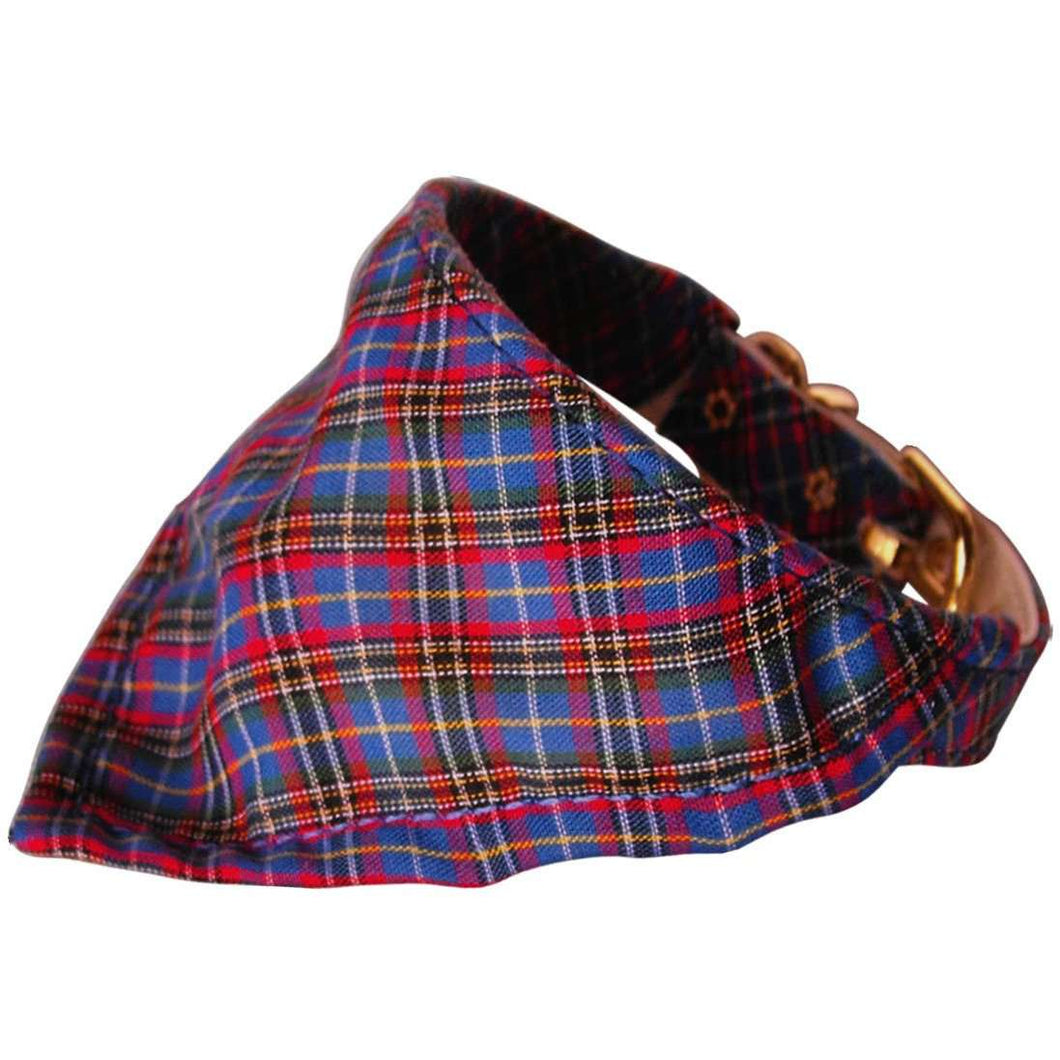 Blue Plaid Bandana Collar - Petponia