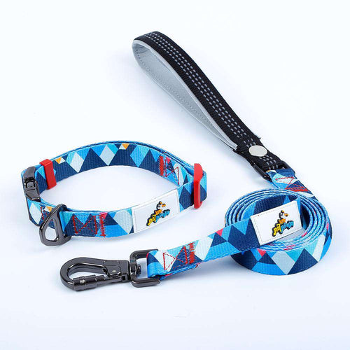 Mighty Dog Collar and Leash Set - Small / Mighty Blue - Medium / Mighty Blue - Large / Mighty Blue