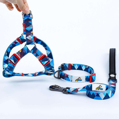 Mighty Dog Collar, Harness and Leash Set - Small / Mighty Blue - Medium / Mighty Blue - Large / Mighty Blue
