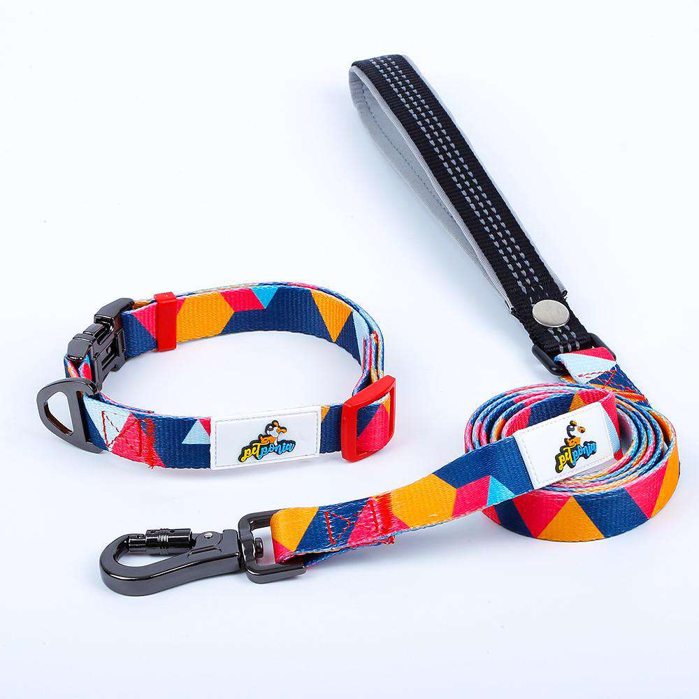 Mighty Dog Collar and Leash Set - Small / Mighty Orange - Medium / Mighty Orange - Large / Mighty Orange