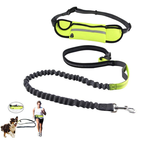 Handsfree Bungee Dog Leash with a Waist Multi-Purpose Bag - Petponia