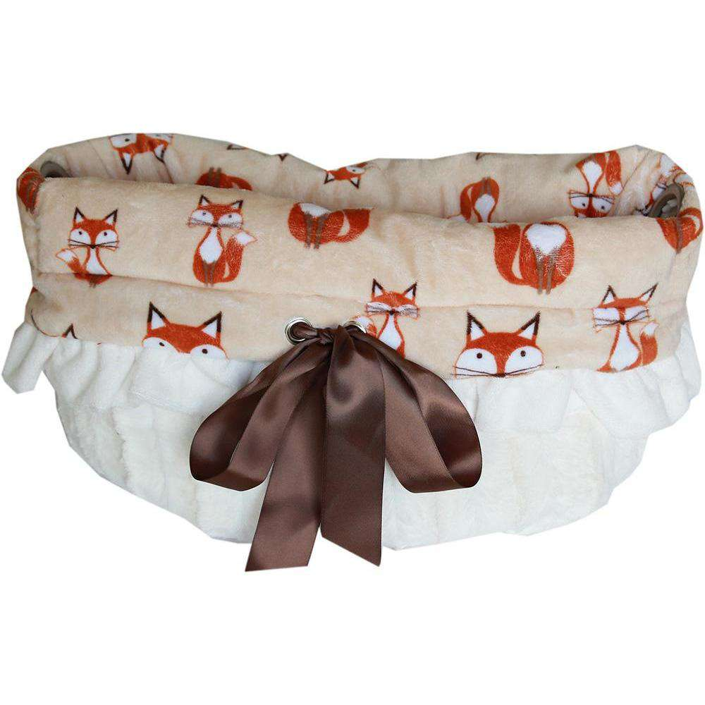 Foxy Reversible Snuggle Bugs Pet Bed, Bag, and Car Seat All-in-One - Petponia