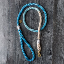 Load image into Gallery viewer, Rope Leash - Blue Ocean