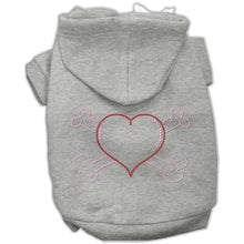 Load image into Gallery viewer, Heart and Crossbones Hoodies - Petponia