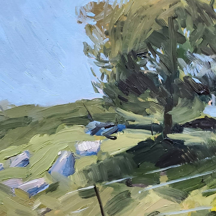 Untitled Plein Air Oil on Wood Panel