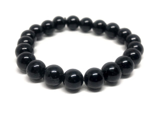 Reiki Infused - Black Tourmaline 8mm Stretch Bracelet - SM