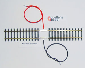 PCP1 Pre Wired Fishplates Rail Joiners for OO & O Gauge (Code 100 & 124)