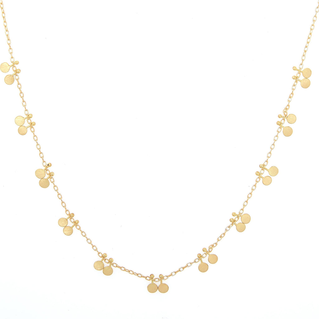 Double Dots Gold Necklace - Sia Taylor